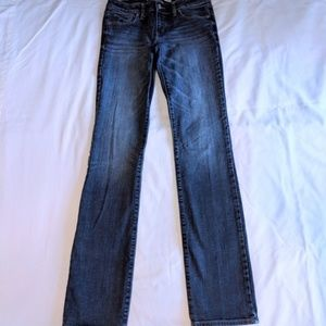Dark Wash Abercrombie and Fitch Long Length Jeans